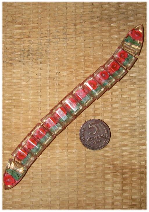 Перекидные чётки, изготовленные в местах лишения свободы (с советской монетой 5 копеек 1924 г.