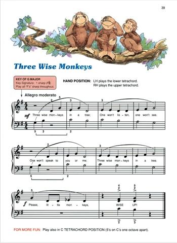 Уиллард Палмер. Песня «Три мудрых обезьяны». Alfred's Basic Piano Library