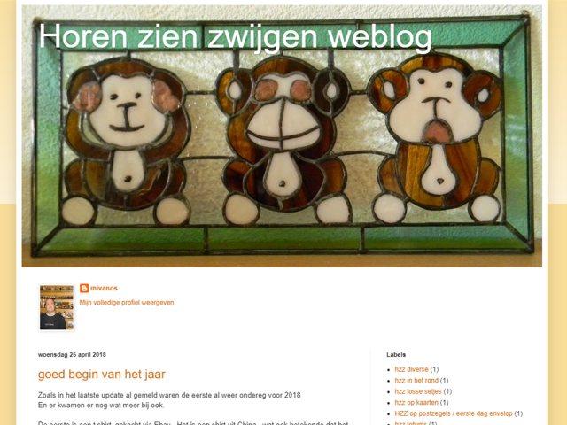 Horen zien zwijgen weblog