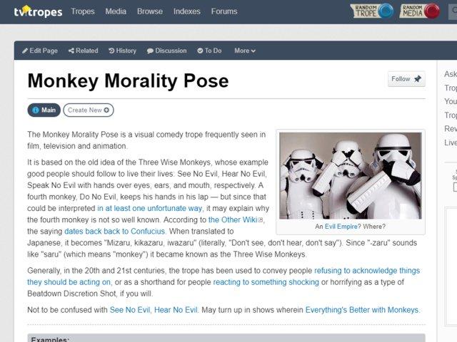 Monkey Morality Pose