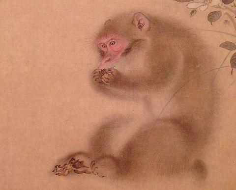 Три обезьяны, Мори Сосэн (фрагмент)